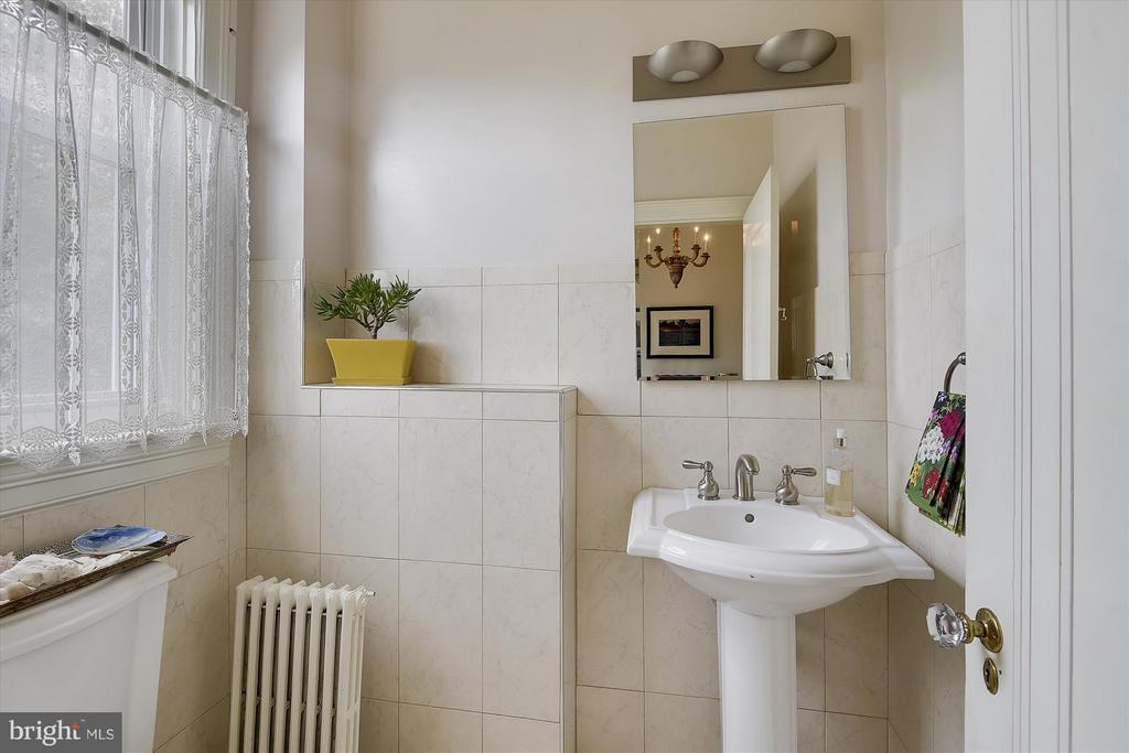 Half Bath on First Floor - 1622 ALLISON ST NW, WASHINGTON