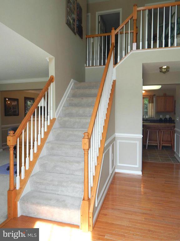 View of 2-Story Foyer from Front Door - 6831 BUCK LN, FREDERICKSBURG