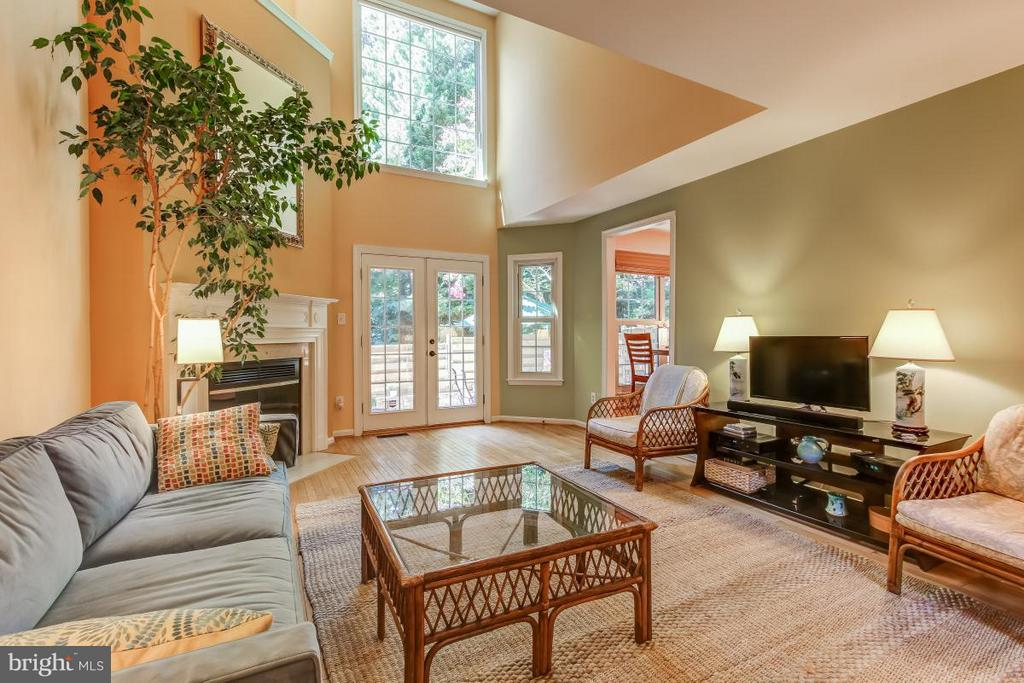 Dramatic two story Living Room with Fireplace - 11749 ARBOR GLEN WAY, RESTON