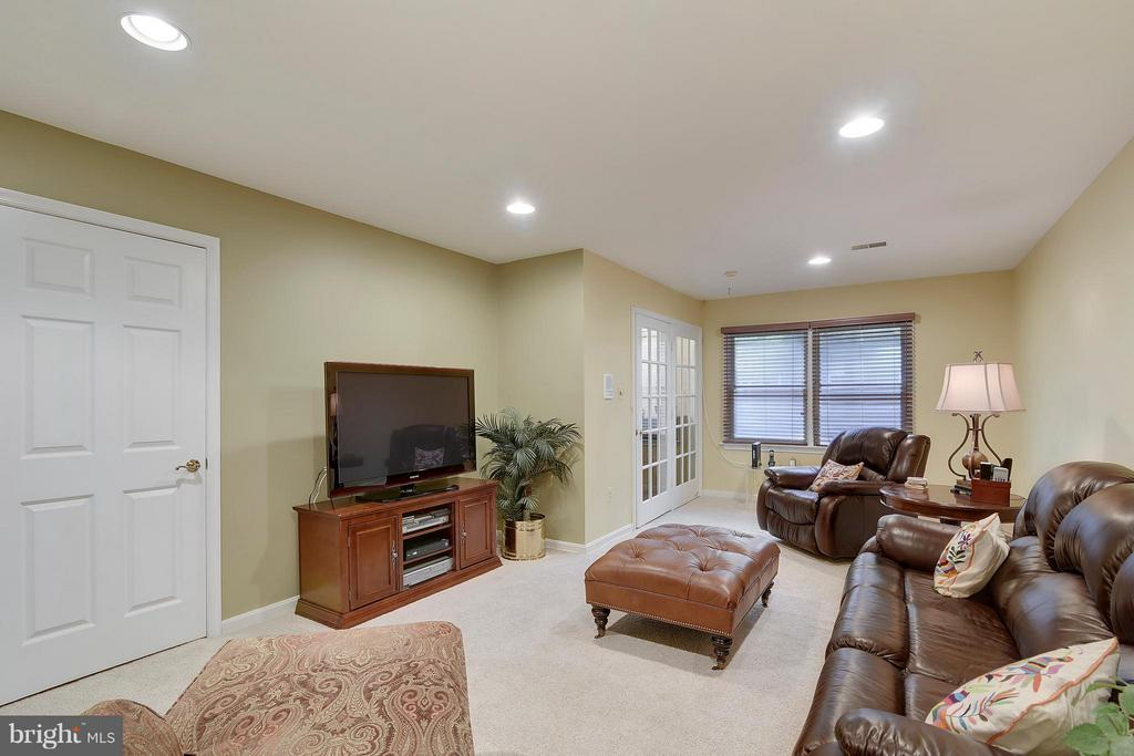 Family Room. Recessed lights. - 2626 FAIRFAX DR, ARLINGTON