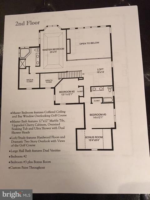 Second Level Floor Plan - 19849 BETHPAGE CT, ASHBURN