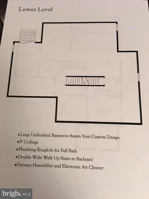 Lower Level Floor Plan - 19849 BETHPAGE CT, ASHBURN