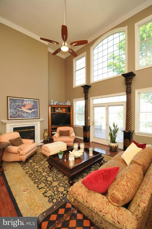 Two Story Family Room w/ Walls of Windows - 19849 BETHPAGE CT, ASHBURN