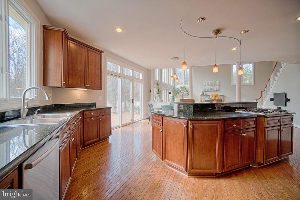 Kitchen opens to family room - 40577 BLACK GOLD PL, LEESBURG