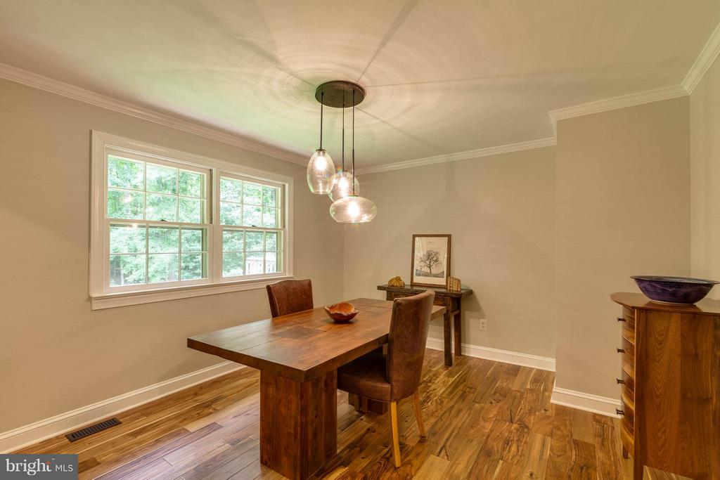 Dining-Fantastic chandelier & new hardwood floors. - 11905 CHAPEL RD, CLIFTON