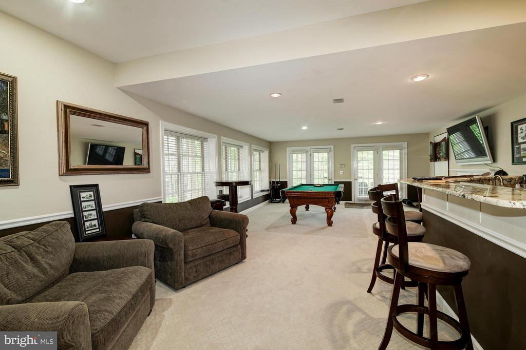 Recreation Room with Wet Bar - 20293 WATER MARK PL, STERLING