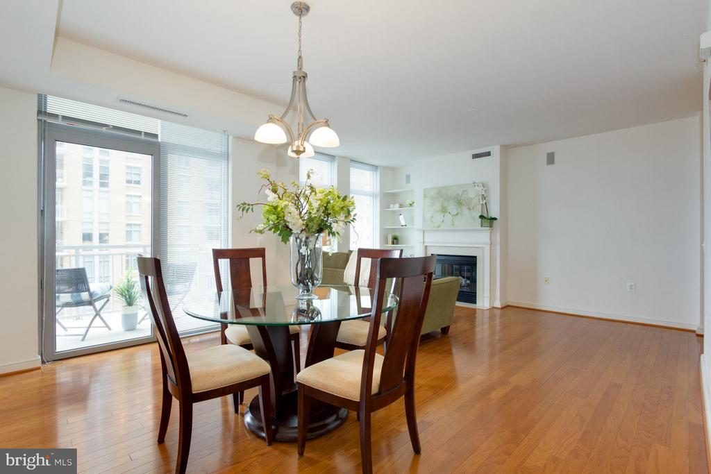 Dining Room to Balcony - 11990 MARKET ST #917, RESTON