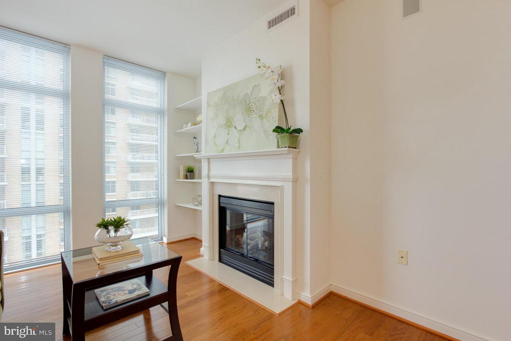 Living Room Electric Fireplace - 11990 MARKET ST #917, RESTON