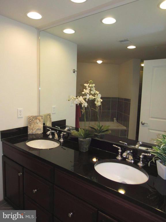 Luxury bath-Double Vanity with Granite - 3625 10TH ST N #803, ARLINGTON