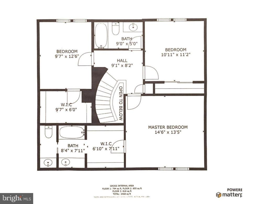 Upper Level Layout - 8511 FORRESTER BLVD, SPRINGFIELD