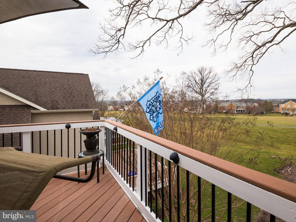 Balcony off master overlooking golf course - 19825 BETHPAGE CT, ASHBURN