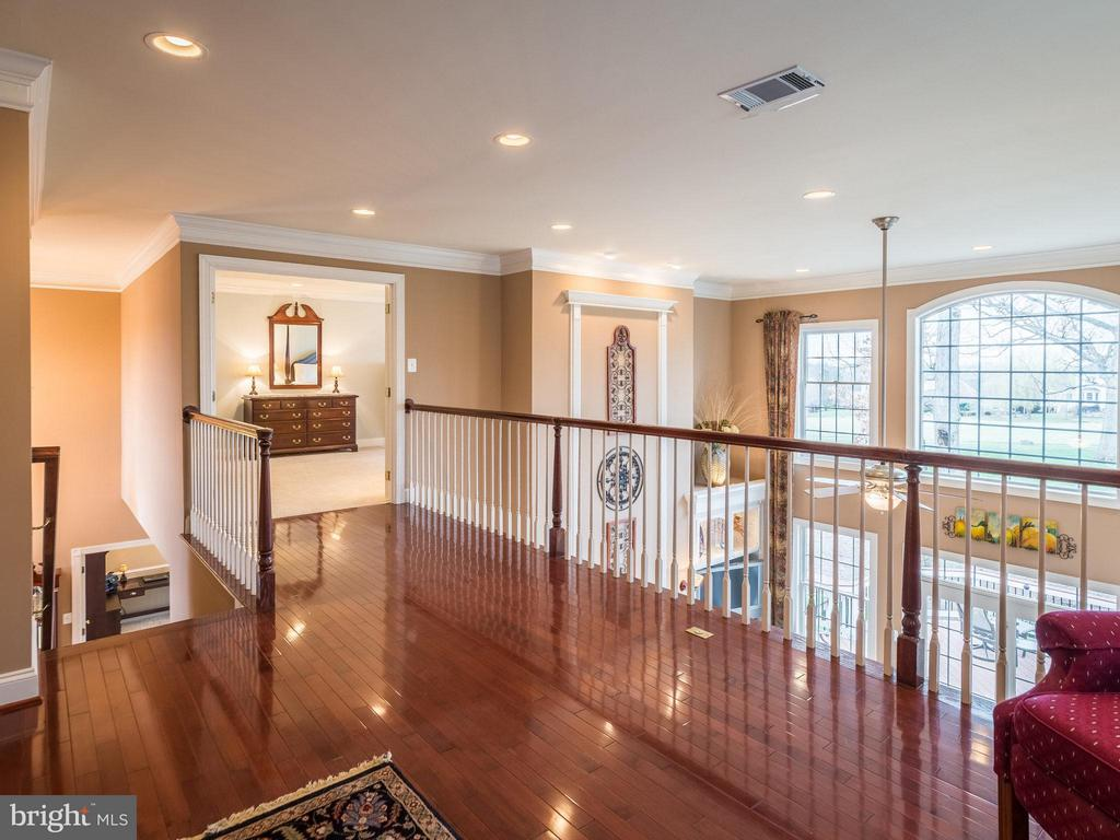 Loft with hardwoods and family room overlook - 19825 BETHPAGE CT, ASHBURN
