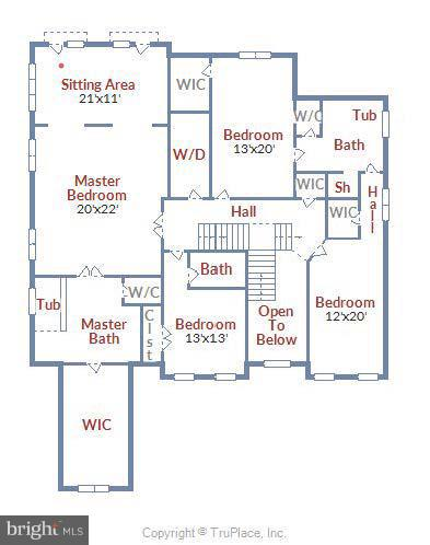 Approximate Upper Floor plan - 13596 SOUTH SPRINGS DR, CLIFTON