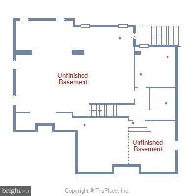 Approximate Basement Floor plan - 13596 SOUTH SPRINGS DR, CLIFTON