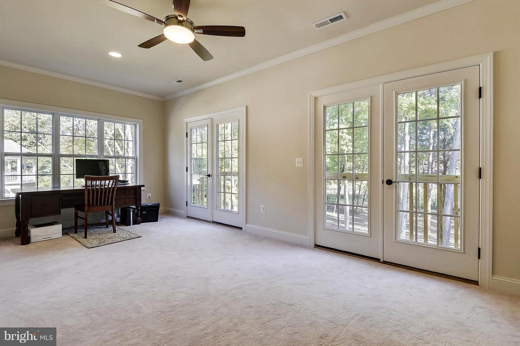 Master Sitting Room w Exterior Doors - 13596 SOUTH SPRINGS DR, CLIFTON
