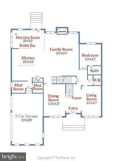 Approximate Main Level Floor plan - 13596 SOUTH SPRINGS DR, CLIFTON