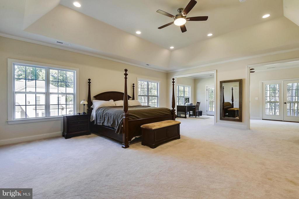 Upper level master w 11ft ceiling and sitting room - 13596 SOUTH SPRINGS DR, CLIFTON