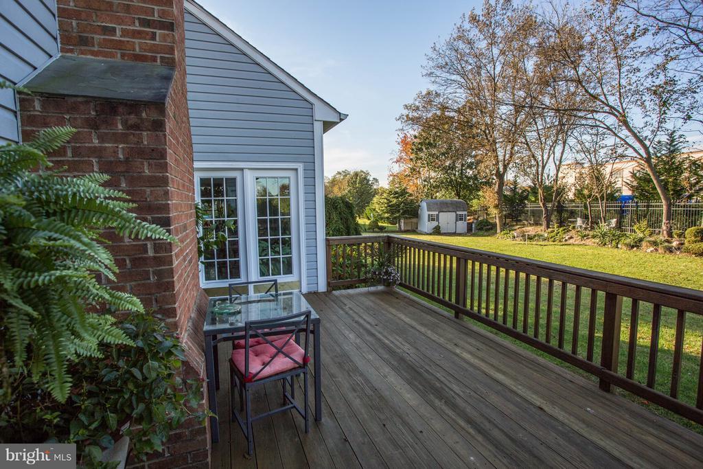 Backyard/Deck View - 7235 CYPRESS HILL DR, GAITHERSBURG