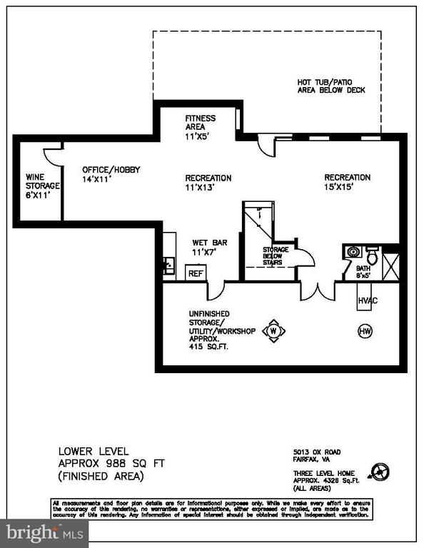 Basement Floor plan - 5013 OX RD, FAIRFAX