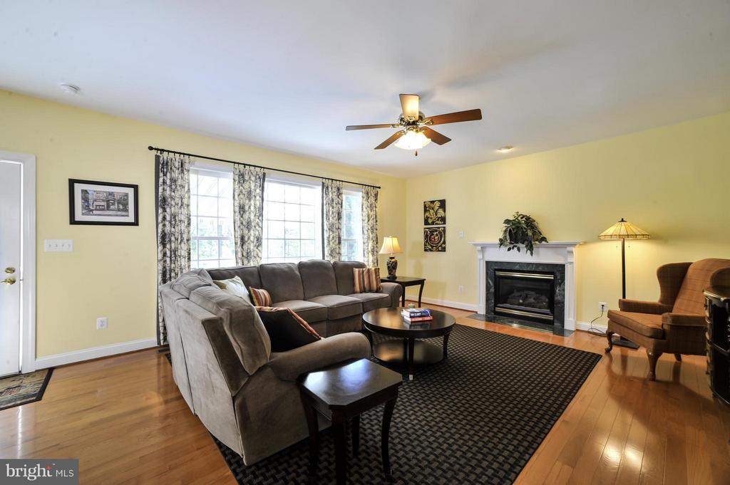 Family Room with gas fireplace and full sunlight! - 5013 OX RD, FAIRFAX