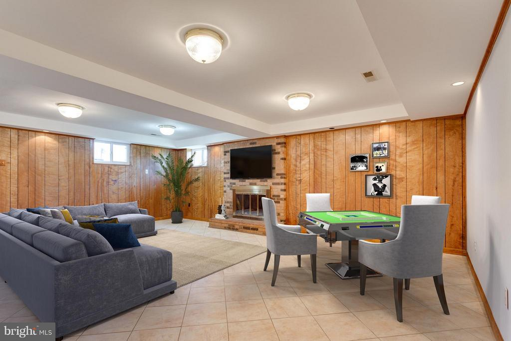 Rec. Room Virtually Staged for you - 11414 WAPLES MILL RD, OAKTON