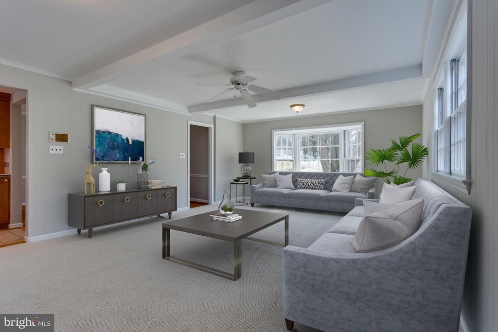 Family Room Virtually Staged for you - 11414 WAPLES MILL RD, OAKTON