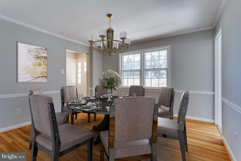 Dining Room Virtually Staged for you - 11414 WAPLES MILL RD, OAKTON