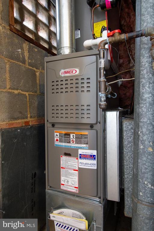 Utility Closet, new HVAC - 10025 MOSBY WOODS DR #318, FAIRFAX