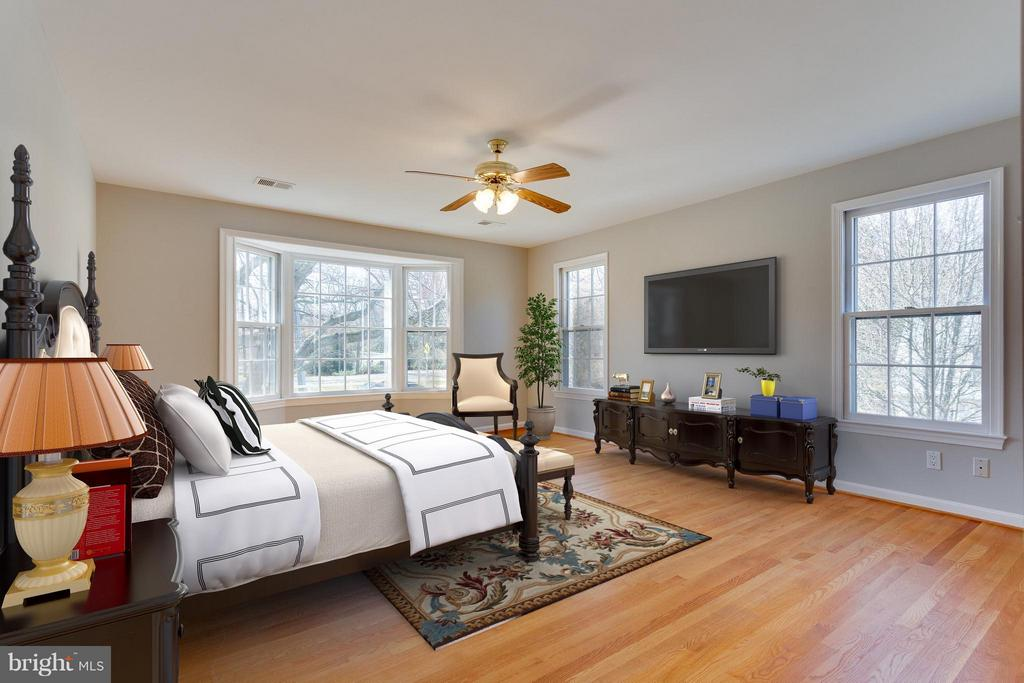 Master Bedroom  Virtually Staged for you - 11414 WAPLES MILL RD, OAKTON