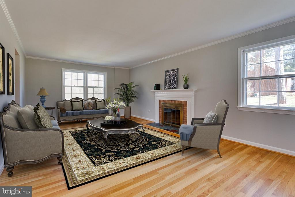 Living Room Virtually Staged for you - 11414 WAPLES MILL RD, OAKTON