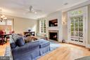 Family Room with Gas Fireplace and Access to Deck - 2323 N RIDGEVIEW RD, ARLINGTON