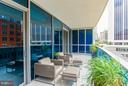 32 x 8 Foot Terrace with Porcelain Tile Flooring - 1881 NASH ST #404, ARLINGTON