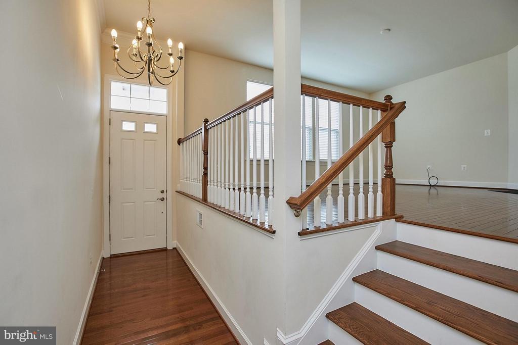 Open Foyer - Hardwood flooring main level - 16636 DANRIDGE MANOR DR, WOODBRIDGE