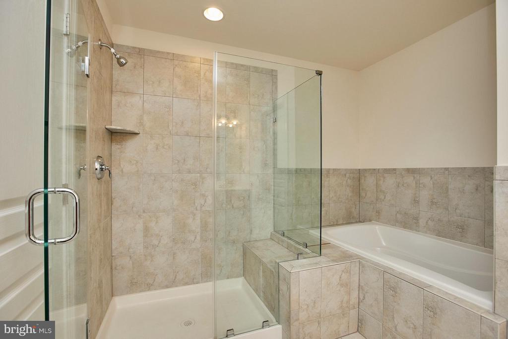Master bath features tub & separate shower - 16636 DANRIDGE MANOR DR, WOODBRIDGE
