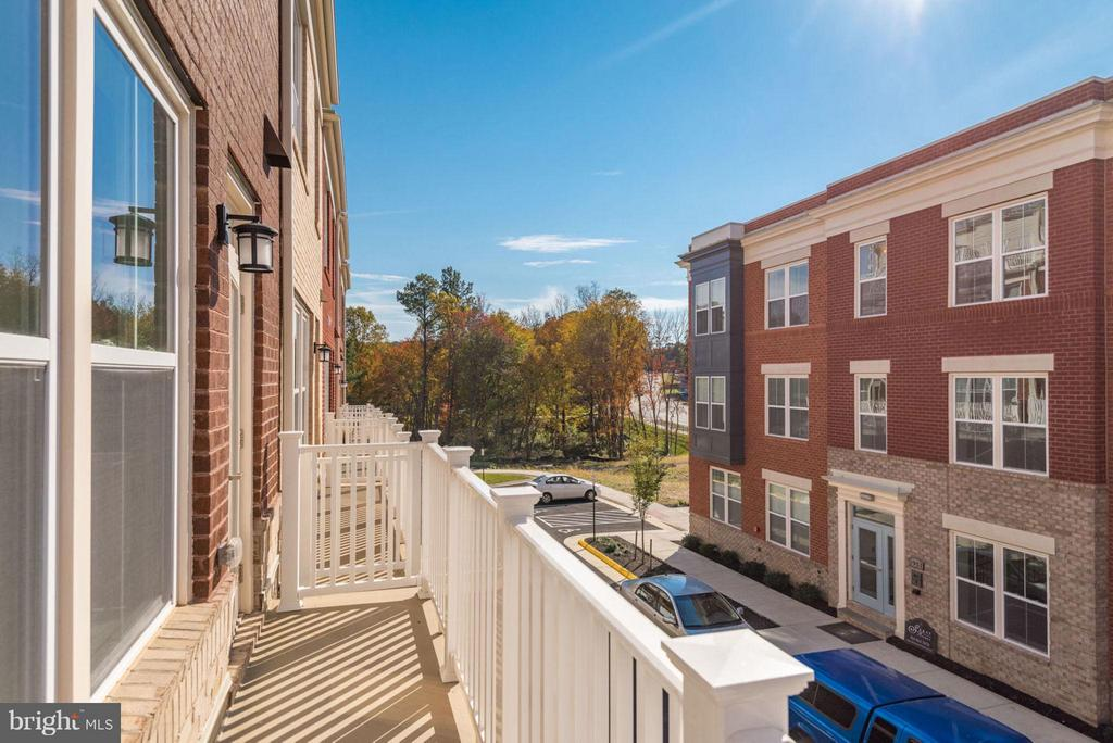 BALCONY OFF KITCHEN - 11695 SUNRISE SQUARE PL #08, RESTON