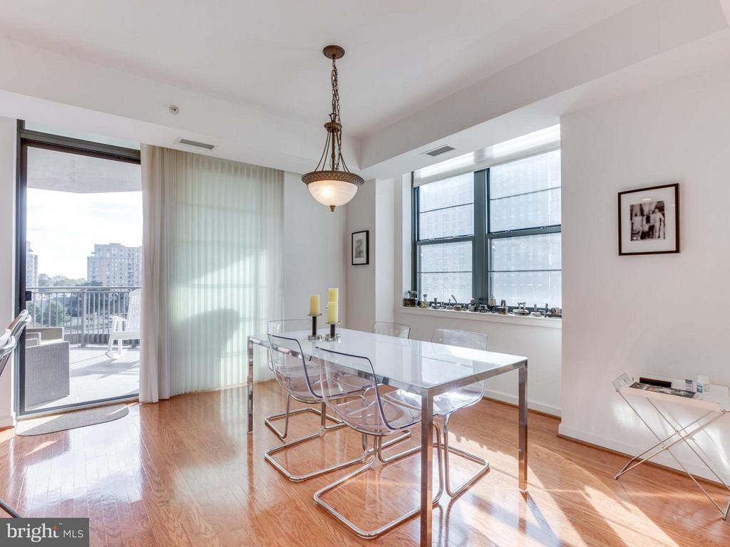Dining Room extends out to the balcony - 1830 FOUNTAIN DR #1008, RESTON