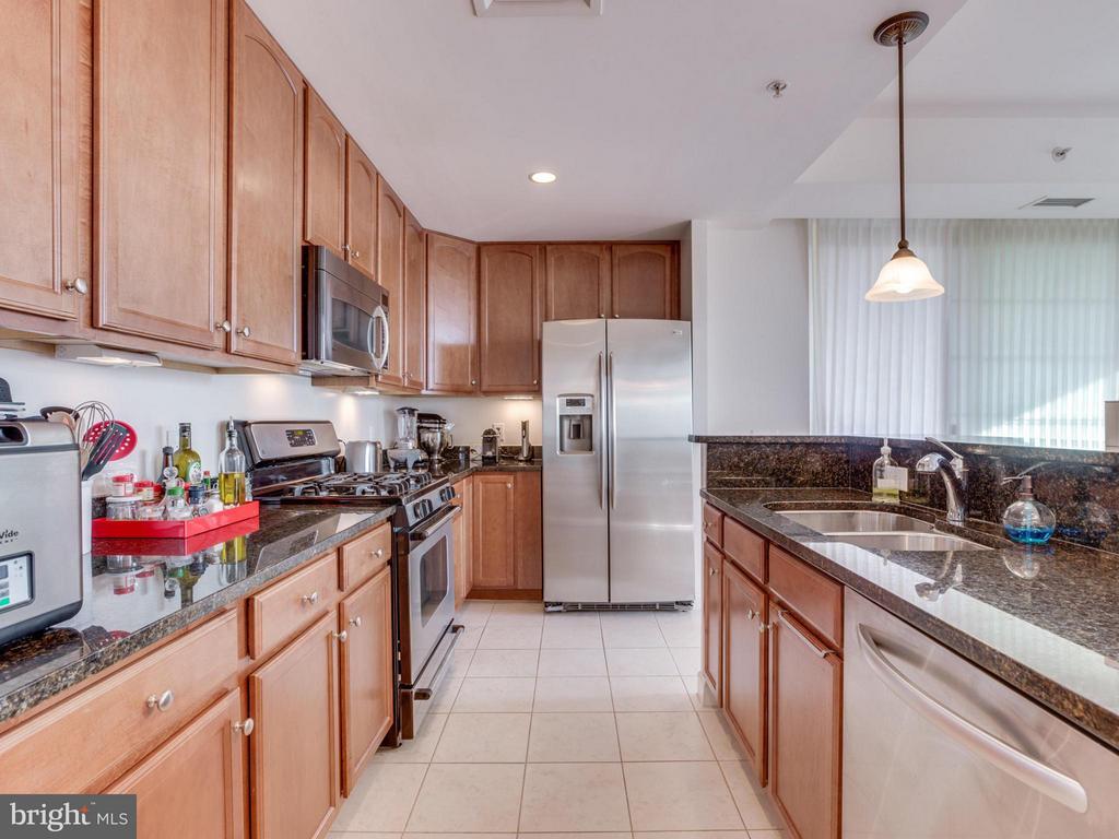 Gourmet kitchen provides gas cooking - 1830 FOUNTAIN DR #1008, RESTON