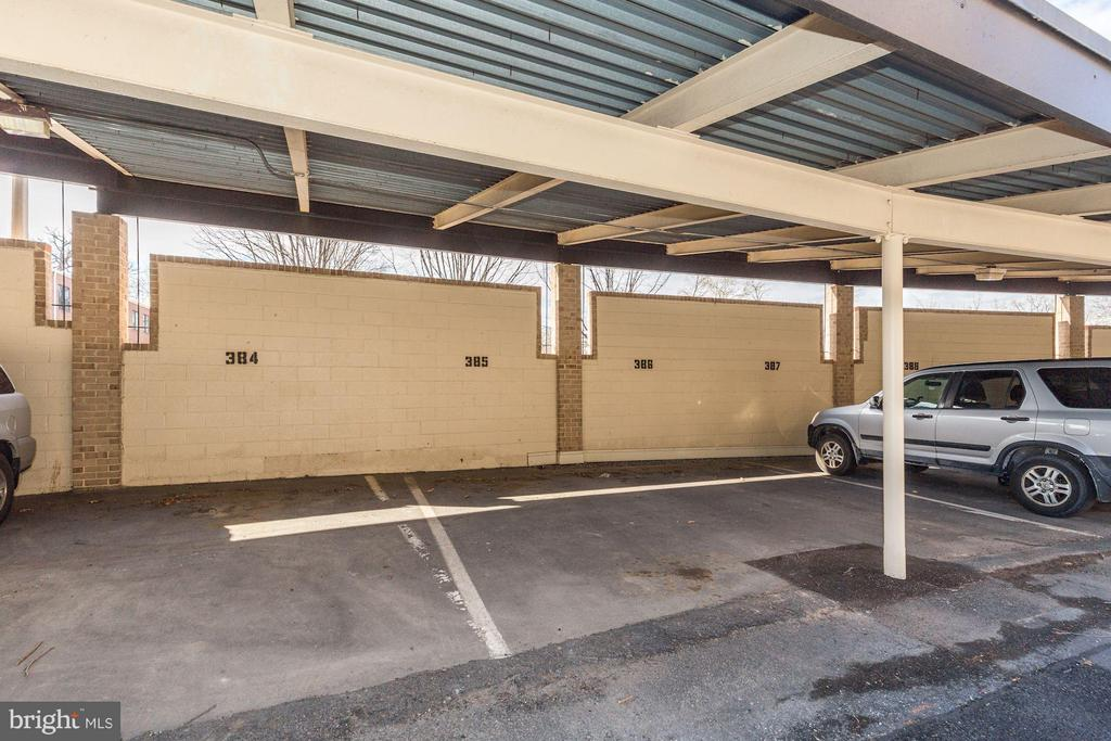 Reserved Parking #385 just right off front door - 126 MONROE ST #126, ROCKVILLE