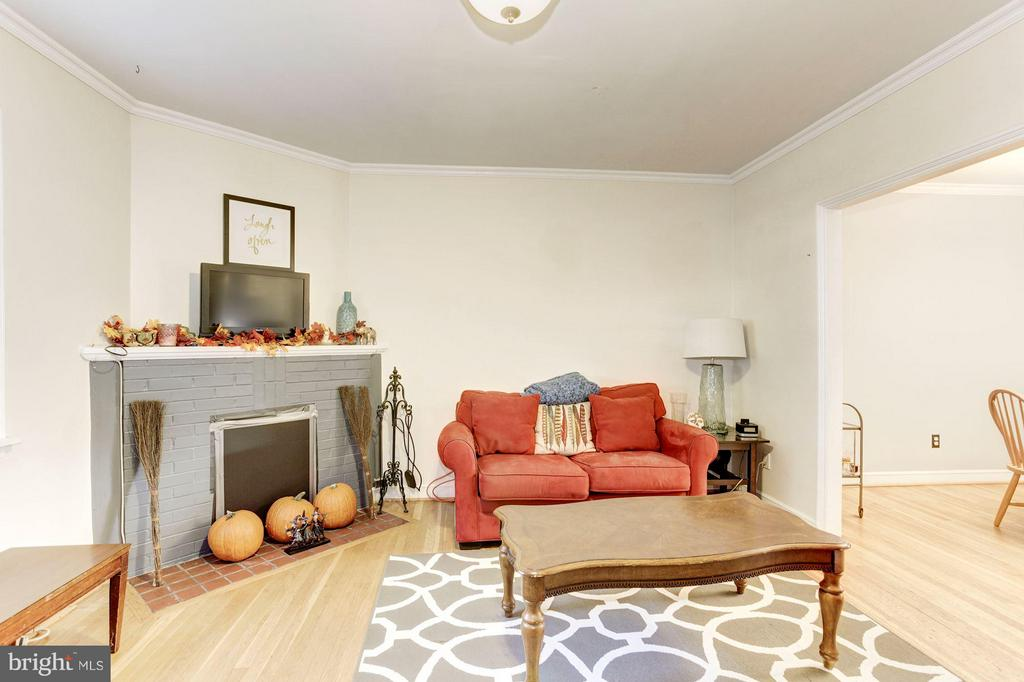 Spacious Living Room with Fireplace - 816 ORME ST, ARLINGTON