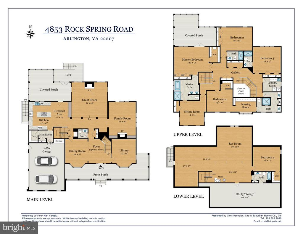 Floor plans - 4853 ROCK SPRING RD, ARLINGTON