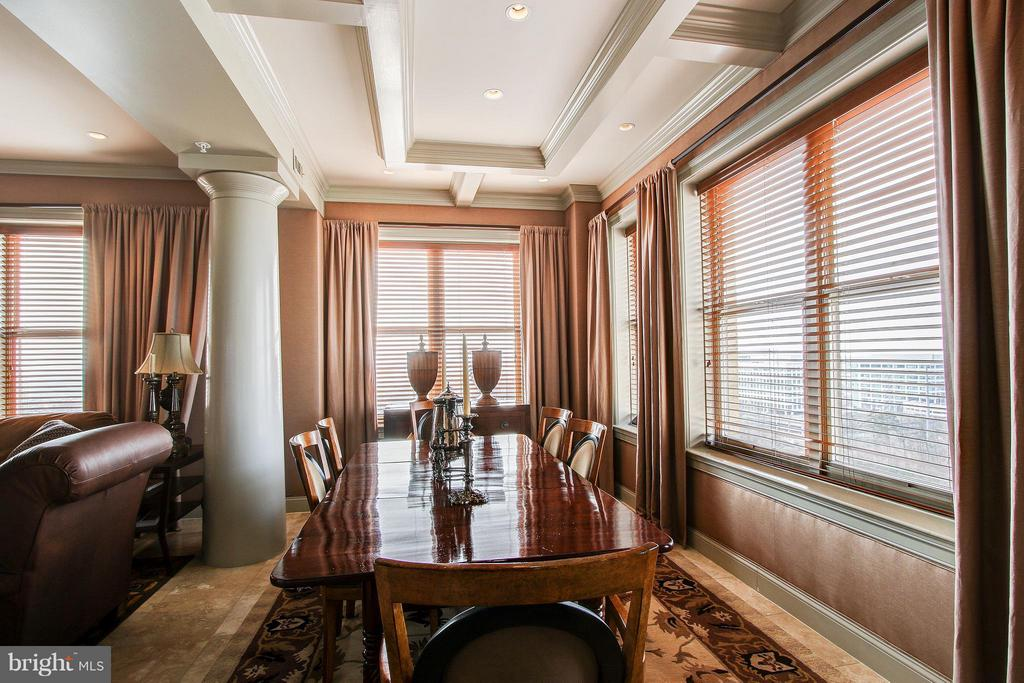 Custom window treatments and ceiling details - 11776 STRATFORD HOUSE PL #1402, RESTON