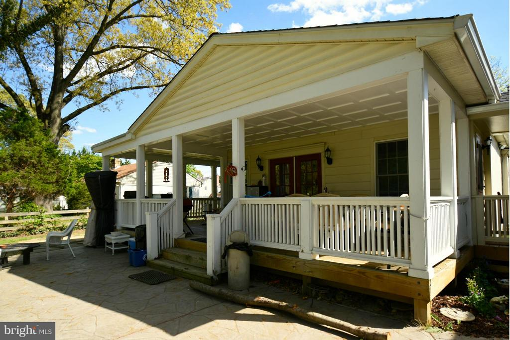 Porch of main house.  NOT what is being rented! - 6012 CLAMES DR, ALEXANDRIA
