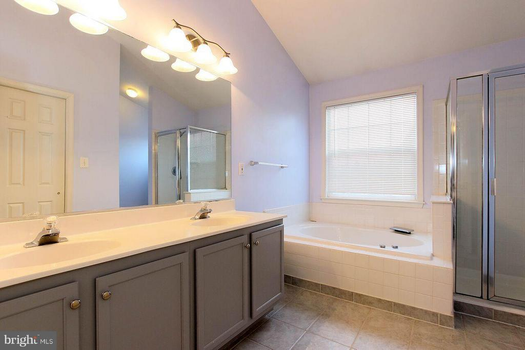 Double vanities master bath - 47745 ALLEGHENY CIR, STERLING
