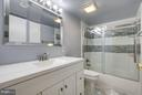 Updated Bathroom with Tile & Glass Shower Door - 5041 7TH RD S #102, ARLINGTON