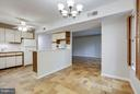 The Large Kitchen leads into the~ Dining Room - 5041 7TH RD S #102, ARLINGTON