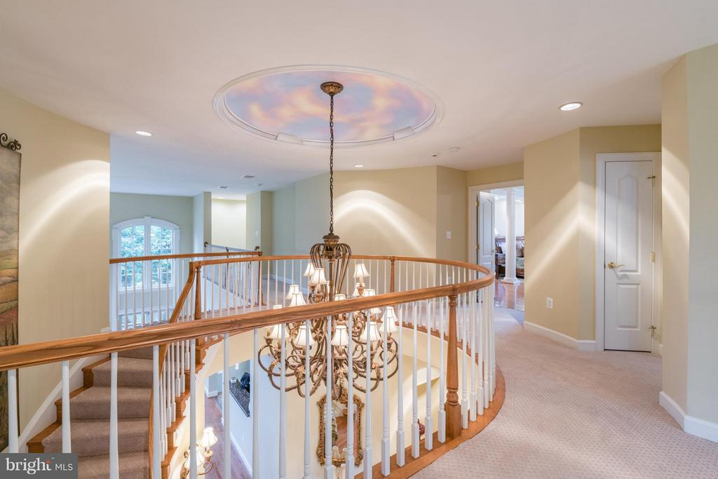 Upper Foyer at Top of Circular Staircase - 3013 ROSE CREEK CT, OAKTON