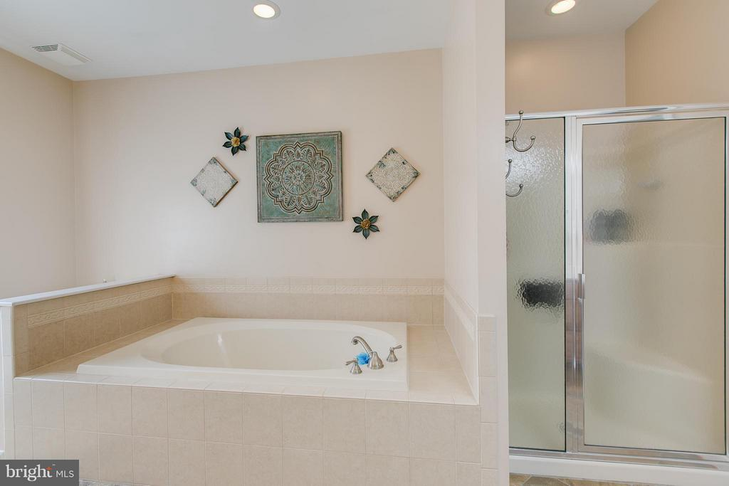 Separate shower and soaking tub - 615 BETHEL CHURCH RD, FREDERICKSBURG