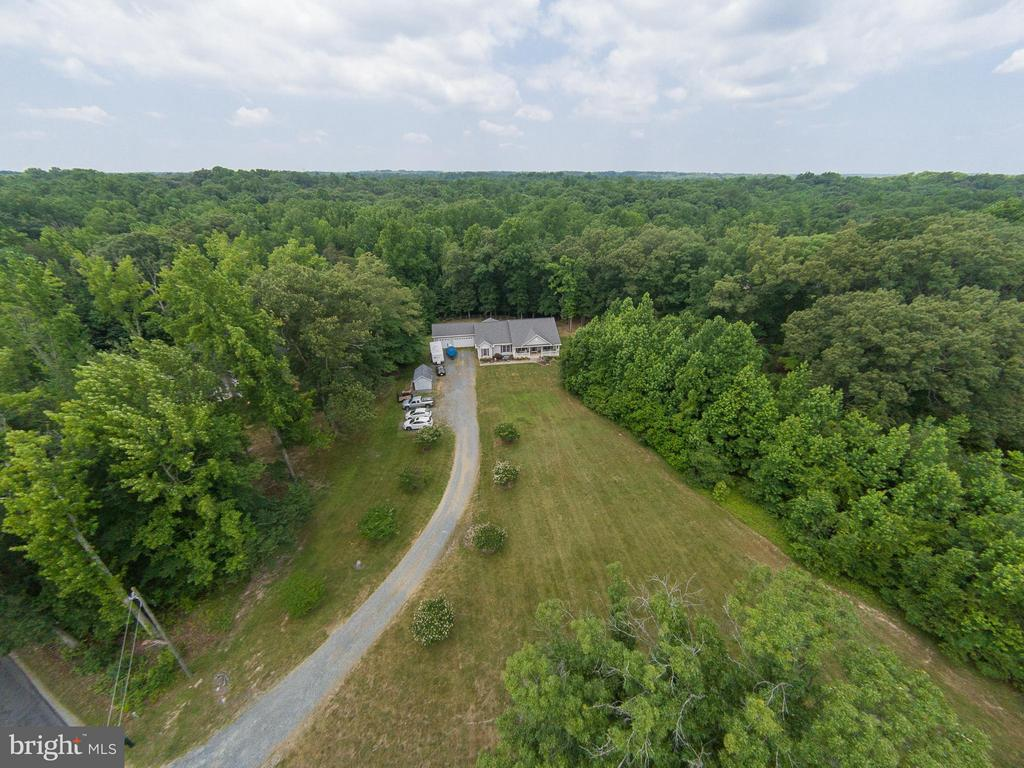 Bird's eye view from the front of the property - 615 BETHEL CHURCH RD, FREDERICKSBURG