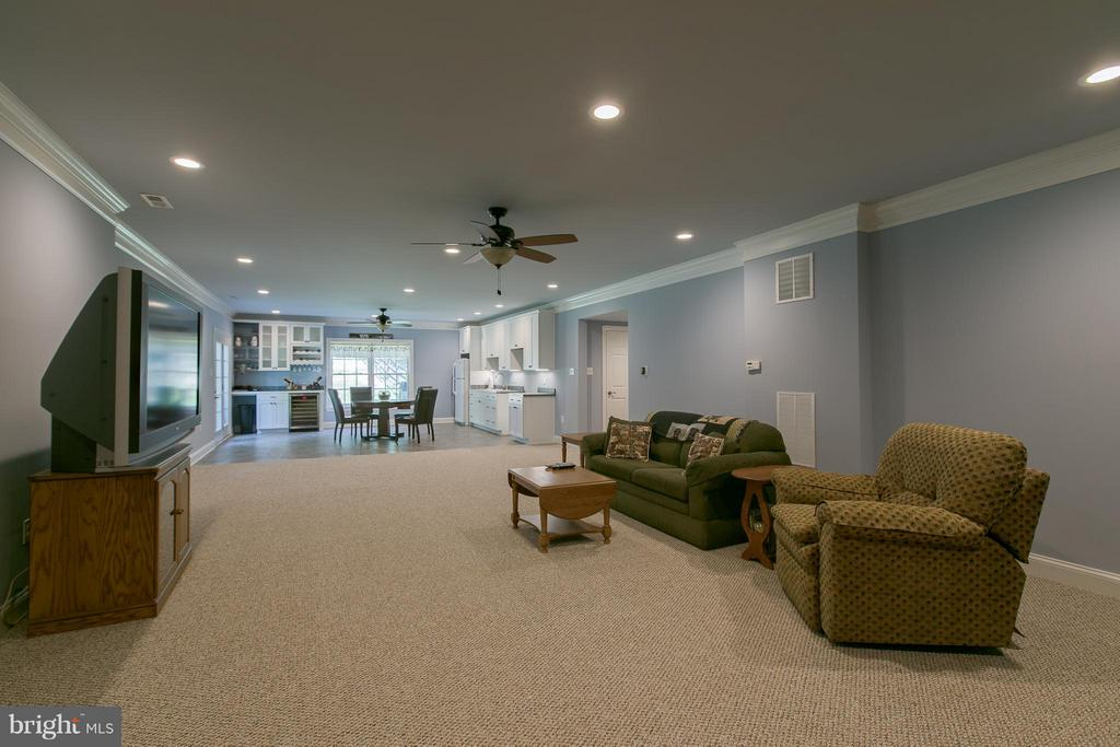 Expansive rec room or in-law suite - 615 BETHEL CHURCH RD, FREDERICKSBURG