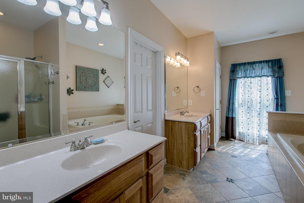 Master Bath with separate vanities - 615 BETHEL CHURCH RD, FREDERICKSBURG